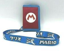 Super Mario Brothers Canvas Wallet with Lanyard Key Ring Nintendo School