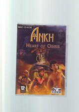 Ankh 2 el corazón de Osiris Punto & clic Apple Mac Macintosh juego completo en muy buena condición