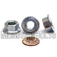 (25) M10-1.50 or 10mm x 1.5  Metric Serrated Flange Lock Nuts Spin Wiz Zinc CR+3