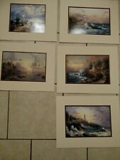 "Thomas Kinkade Seaside Memories Collection 11""X14"" Matted Prints with Coa (5)"