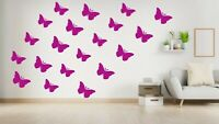 100 Butterflies wall Removable Vinyl Wall Decals Wall Stickers - Nursery Decor
