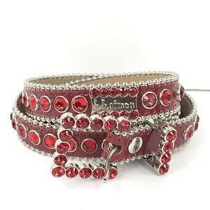 BB Simon Swarovski Red Belt Red Stones Size Small 3037 D 48