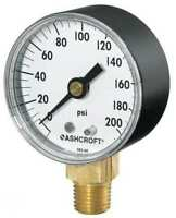 ASHCROFT 35W1005PH02L160# Gauge,Pressure,0-160 psi,+/-3-2-3Percent