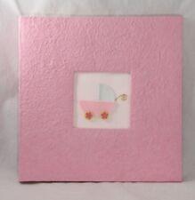 Baby Scrapbook Memory Keepsake Photo Album 12x12 Pink Girl Handmade Paper