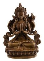 Chenresig Avalokitesvara Soprammobile Tibetano IN Resina Budda 11 CM Brown 6043