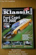 Motor Klassik 10/02 Ford Capri RS 2600 20 M Opel GS/E