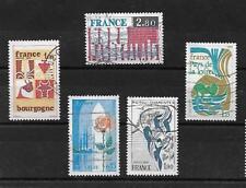 lot de 5 timbres oblitérés 1975 YT 1847-1848-1849-1851-1852