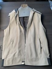 BRUNELLO CUCINELLI SUEDE VELOUR Hoody HOODED LEDER VEST WESTE SWEAT JACKET XXL
