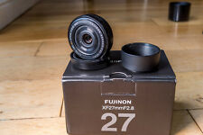 FUJIFILM FUJINON XF 27mm F/2.8 OIS Lens, boxed with all bits and metal hood