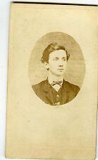 PHOTO CDV dos nu un jeune homme prend la pose vers 1870