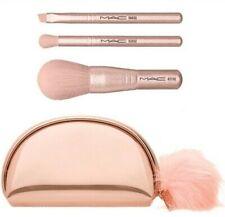 MAC Snow Ball Brush Set / Mini With Rose Gold Clutch Gift Set