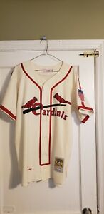 100% Authentic Mitchell & Ness 1944 Cardinals Stan Musial Jersey Size 44 L