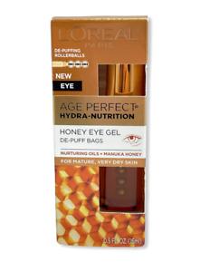 L'Oreal Age Perfect Hydra-Nutrition Honey Eye Gel De-Puff Bags 0.5oz./15ML