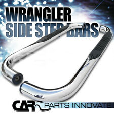 """1987-2006 Jeep Wrangler 3"""" Polished Stainless Steel Side Step Nerf Bars"""