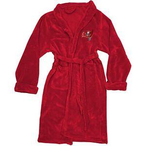 NEW NFL Football Tampa Bay Buccaneers L/XL Bathrobe Lounge Sleep Robe Super Soft