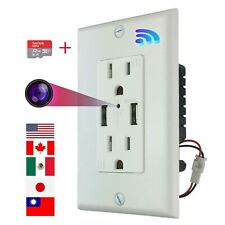 Hidden Wifi Spy Camera In Wall AC Outlet With 32G Memory Card For Remote Viewing