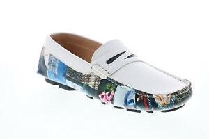 Robert Graham Cosimo RG5423S Mens White Loafers & Slip Ons Moccasin Shoes