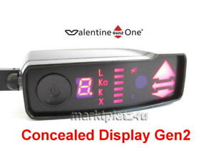 CONCEALED DISPLAY GEN2 FOR VALENTINE ONE V1 RADAR LASER DETECTOR RADARWARNER