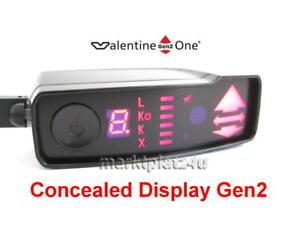 CONCEALED DISPLAY GEN2 FOR VALENTINE ONE V1 RADAR LASER DETECTOR RADARWARNER