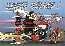 YAMAHA Vmax 1200 V-Max Breizh Bigouden Carte Postale Moto Motorcycle Postcard BD