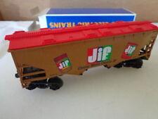 "K-LINE ""O"" AND ""027"" JIF PEANUT BUTTER CLOSED HOPPER CAR PROCTER GAMBLE 1990 ERA"