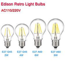 E27 Dimmable Filament Light Bulb Light LED Candle Lamps Edison Retro AC110V 220V