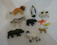 10X Animal action figure toy plastic