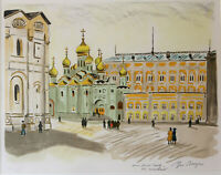 "YVES BRAYER: lithographie ""Saint Petersbourg"""