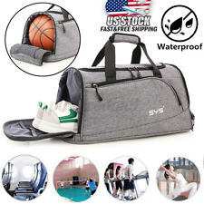 Men Women Nylon Gym Duffle Shoulder Bag Waterproof Sports Travel Luggage Handba
