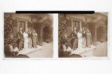 Vive les mariés Photo Plaque Stereo6x13cm Vintage