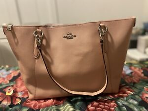 Coach City Zip Tote Bag in Leather F48537 Light Pink