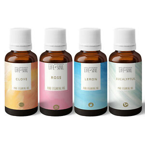 Essential Oils- Smell Training Kit- Aromatherapy Pack- 4 x 10ml Essential Oils