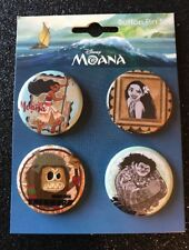 Moana New On Card Button Pin Set # 2