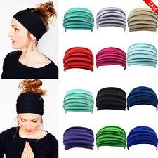 Women Elastic Stretch Wide Headband Hairband Running Yoga Turban Soft Head Wrap
