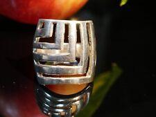 Ausgefallener 925 Silber Ring Groß Schwer Durchbrucharbeit Tolles Design Vintage