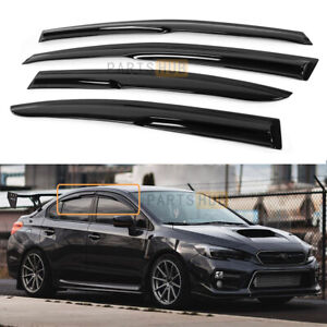 For 2015-21 Subaru WRX STI Wavy Mugen Smoke Tinted Window Visor Rain Guard Vent