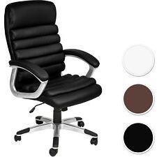 Silla de Estudio Zona de Trabajo Despacho Piel Sintética Giratoria Negro Nuevo