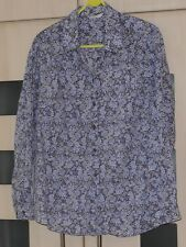Marks & Spencer Purple Floral Long Sleeved Shirt Size 18. Good Condition