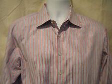 Pink Thomas Pink Prestige Slim Fit Dress Shirt Striped French Cuff SZ 16.5