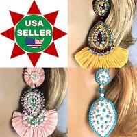 Handmade Beaded New Handcrafted Fashion Hook, Post earrings
