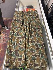 Vtg LL Bean Camo Wool Pants Size 36