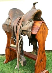 Vtg Johnny Crawford's Personal Leather Western Horse Tooled Riding Saddle