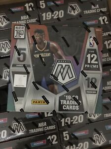 2019-20 Panini NBA Mosaic tmall sealed box 12 packs look for Zion Gold wave RC