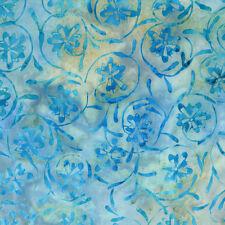 Light Blue Pinwheels Tonga Batik Fabric - Timeless Treasures - BTY - B1701