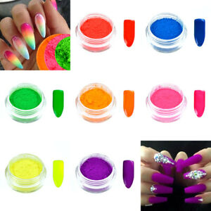 Neon Nail Pigment Powder for Nail Art Decoration Design Manicure, UK Seller, New
