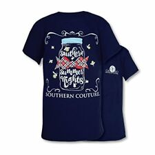 Comfort Summer Nights Fireflies Womens Fit T-Shirt - Navy, Large