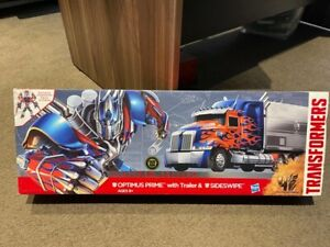 Transformers Optimus Prime with Trailer Sideswipe Leader Action Figures Toy