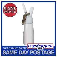 WHITE EZYWHIP CREAM WHIPPER 0.25L DISPENSER GUN N2O NITROUS OXIDE BULBS CHARGER