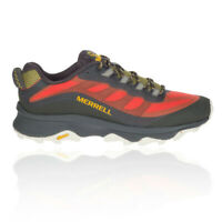 Merrell Mens MOAB Speed Walking Shoes Black Red Sports Outdoors Breathable