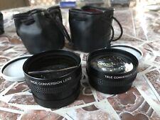 Set of 2 Panasonic Wide Conversion Lense + Tele Conversion Lense W/ Cases